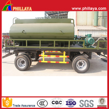 Zwei Bauernhof-Achsen-Wasser-Behälter-Anhänger