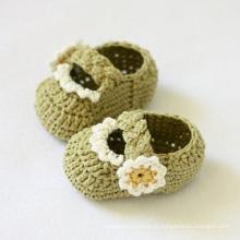 Baby Boy Girl Crochet Tricoté Sandales Chaussures Chaussures en laine Prewalker Handmade