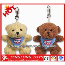 Brinquedos de pelúcia urso chaveiro Presentes para crianças