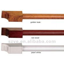 Serie H 28mm varillas de madera de cortina de aluminio