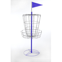 Disc Golf Basket with Cross Chains