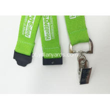 Silk Screen Lanyards Cor verde para eventos