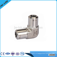 Raccords de tuyau de soudage de gaz DIN en acier inoxydable