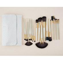 24 PCS Christmas Eve Makeup Brush with White PU Bag