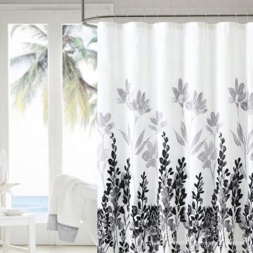 Wholesale Assorted Design Mildew Resistant Waterproof 100%Polyester Printed Bathroom Shower Curtain