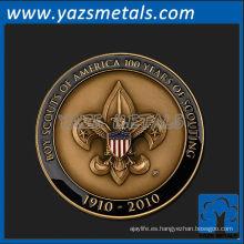 personaliza medallas de metal, años personalizados de alta calidad de la medalla de exploración de niños