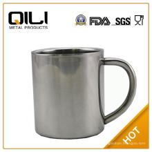 vaso de 450ml 18/8 acero inoxidable de respetuoso del medio ambiente mug doble pared