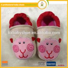 Новый образец хлопка ткани детская обувь прекрасная животная форма малышей детская обувь