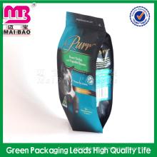 Multi-color & style pet food material laminado 4 lado saco de plástico de vedação