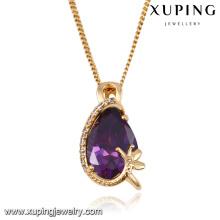32683 colgante elegante del collar de la joyería del rasgón del ojo de la manera en chapado en oro