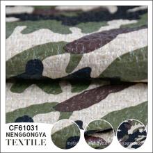 wholesale beautiful camouflage coated chenille PU coated fabric