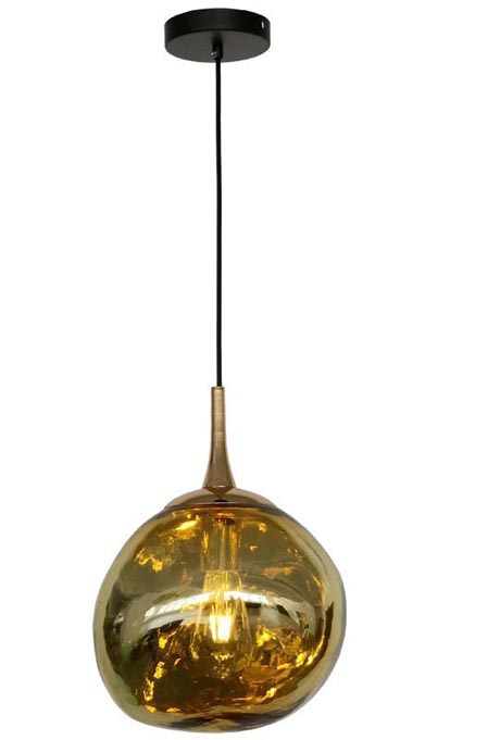 Golden Spherical Chandelier