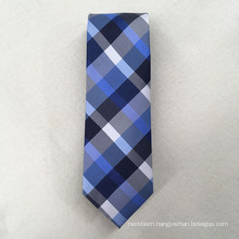 Custom Your Own Brand Polyester Check Jacquard for Cravat Neckties Men