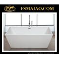 Thin Edge Acrylic Bathroom Bathtub Rectangle Glossy White (9016)