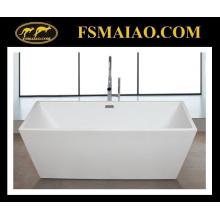 Retângulo de acrílico de banho de borda fina acrílico branco lustroso (9016)