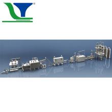 Linha de processamento contínuo automático de flocos de milho