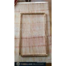 LCD-Bildschirmrahmen in Aluminiumprofil mit eloxierter Goldfarbe
