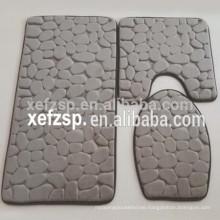 3D design microfiber bathroom rug set
