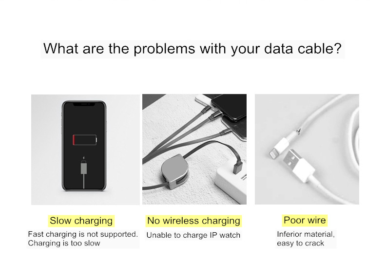 wireless data charging cable----