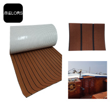 Impermeable Dar marrón + color negro EVA Faux Teak Sheet
