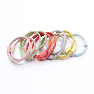 Assorted Candy Color Tiny Baby Girls Hair Ties No Crease Hair Bands Bulk 100Pcs Elastic Rubber Ponytail Holders Headband