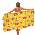 High Quality Adults Vacation Quick Drying Non Stick Sand Microfiber OEM Custom Print 100% Polyester Beach Towels