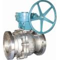 Válvula de bola flotante con funcionamiento del engranaje