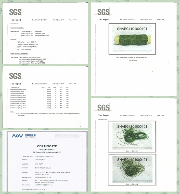 Artificial Grass Certifications