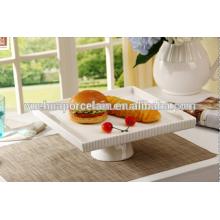 Placas Dinnerware Tipo baratos porcelana branca casamento carregador placas