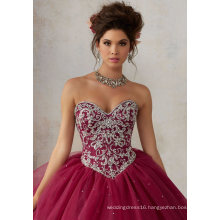 Sweetheart Crystal Ballgown Bridal Prom Evening Quinceanera Dress (89128)