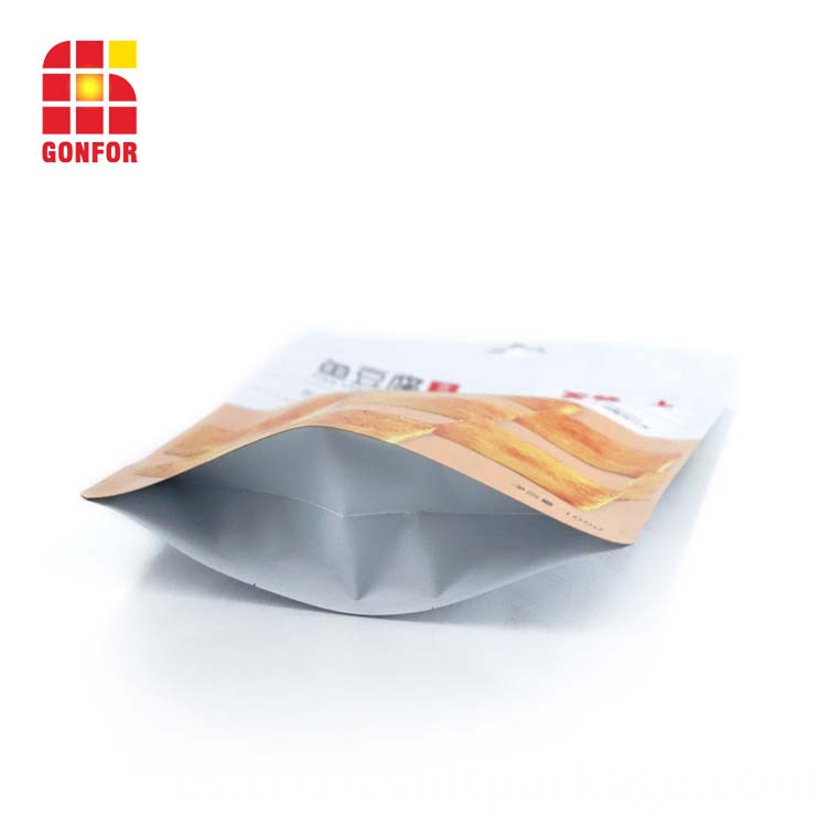 Snack Packaging Stand Up Pouch With Zipper And Hang Hole
