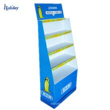 Présentoir durable de préservatif de stratifié de plancher de carton pliable