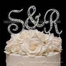 Rhinestone-Anfangs-Weinlese-Buchstabe a bis Z-Hochzeits-Kuchen-Deckel für Kuchen-Dekoration