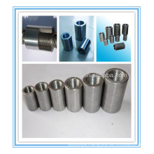 Parallel thread rebar splicing sleeve/rebar couplers in constructions