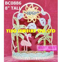 Coroas e tiaras de desfile de cristal