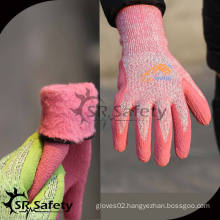 SRSAFETY winter use style,foam gloves in china