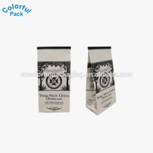 Saco de café de papel kraft marrom / saco de embalagem de café Coffe
