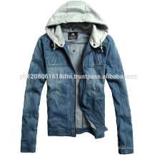 Fleece hoodie with jeans jacket fashion and style wear for men and women