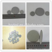 Maille de filtre agglomérée de feutre de fibre d'acier inoxydable de précision industrielle de micron