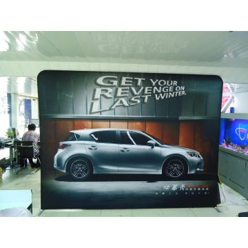 Pameran Kain Lurus Pop up Stand Banner Booth