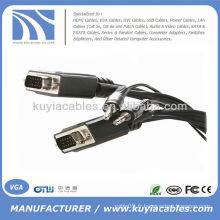 15 pi VGA SVGA Câble mâle à mâle avec câble audio stéréo 3,5 mm