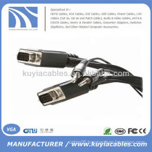 15 ft VGA SVGA Male to Male Cable With 3.5mm Stereo Audio Cable