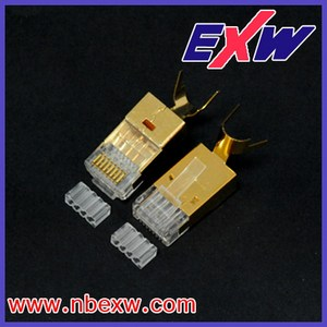 Cat.6A Golden RJ45 conector