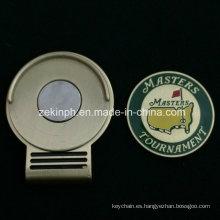Marcador de Hatclip de bola de Golf personalizado con imán