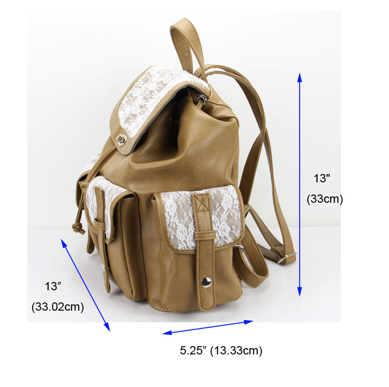 Leather Lace School Backpacks