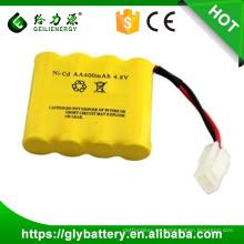 batería recargable ni-cd aa 4.8v 800mah batería para el juguete