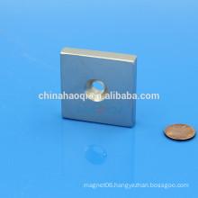 Block NdFeB NIB Neo ndfeb magnet with threaded hole