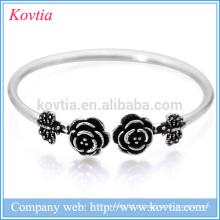 Tailandês pulseira de prata pulseira de flores rosa borboleta 925 pulseira atacado alibaba