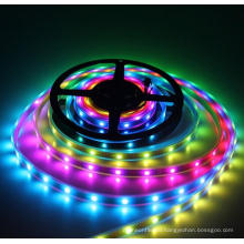 DC5V Waterproof IP67 Flexibel black PCB WS2812B programmable RGB LED strip
