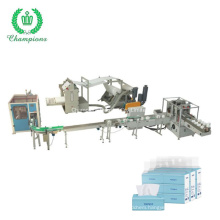 High Speed Automatic Plastic Bag Facial Tissue Production Line